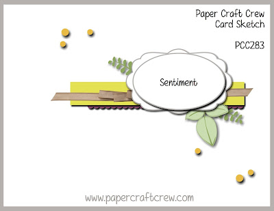 Paper Craft Crew Card Sketch Challenge #PCC283 order Stampin' Up! SU products from Mitosu Crafts UK Online Shop