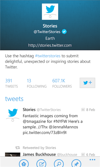 Twitter App for Windows Phone 8 and 7.5 now updated to version 2.2.0.0