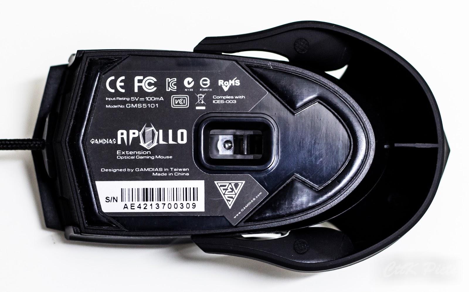 Gamdias Apollo Extension Optical Gaming Mouse 65