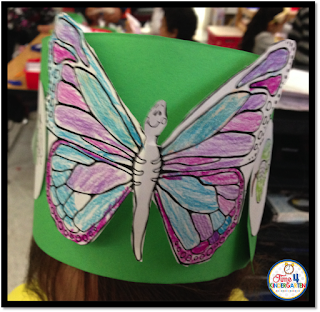 Butterfly life cycle headband created by time4kindergarten available at https://www.teacherspayteachers.com/Product/Butterfly-Life-Cycle-Headband-1204804