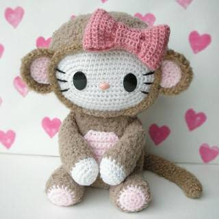 PATRON HELLO KITTY MONO AMIGURUMI 27240
