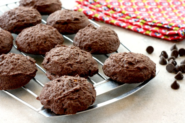 Whole Wheat Double Chocolate Cookies Three Ways. These deliciously soft cookies are good as is, and are extra delicious with candied ginger or orange zest added.