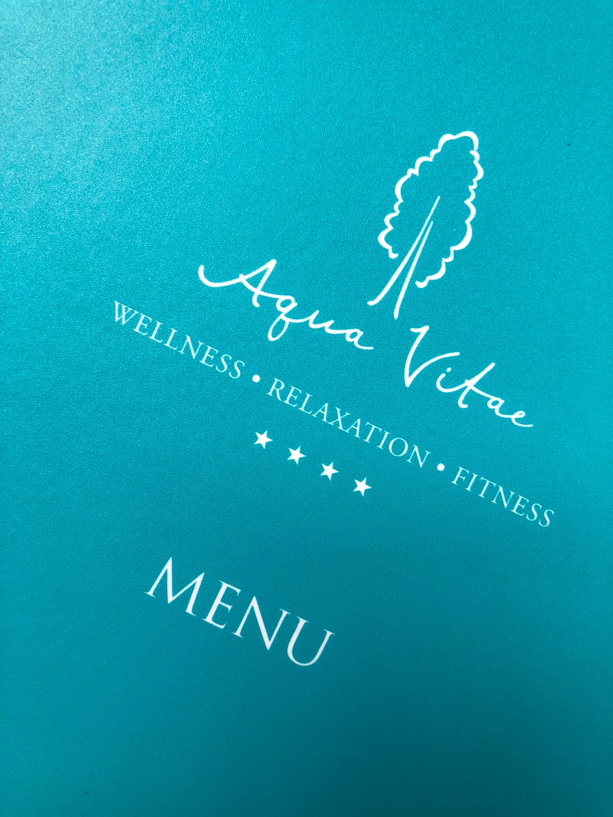 Matfen Hall Aqua Vitae Spa Food Menu