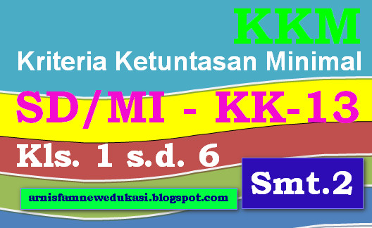 KKM KURIKULUM 2013 SD/MI KELAS I, II, III, IV, V, VI SEMESTER 2 - LENGKAP