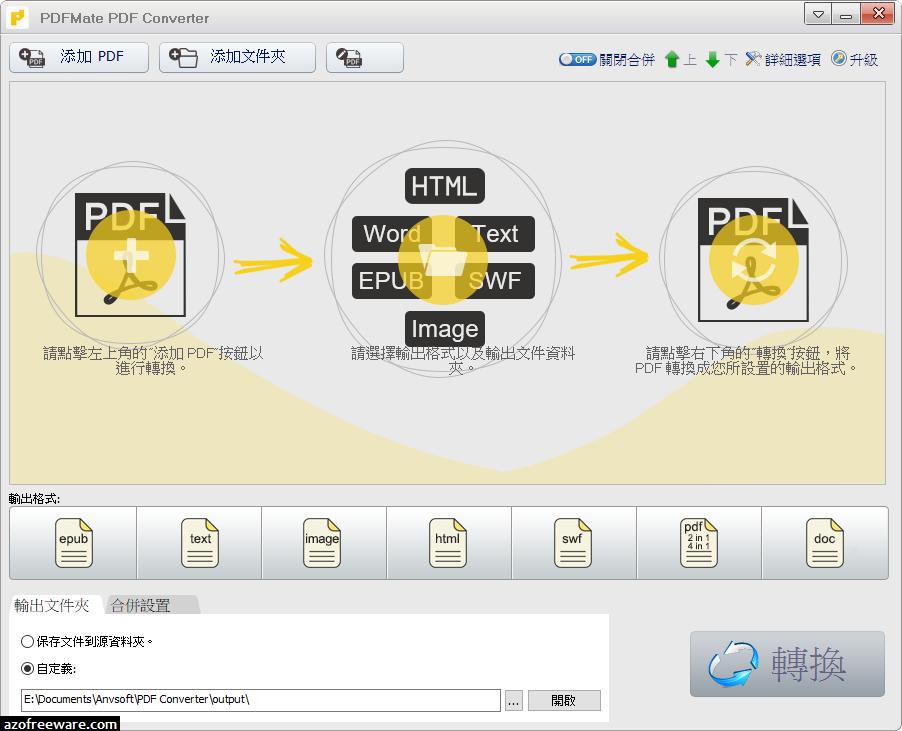 PDFMate PDF Converter Free 1.86 免安裝中文版 - PDF轉檔兼合併免費軟體 - 阿榮福利味 - 免費軟體下載
