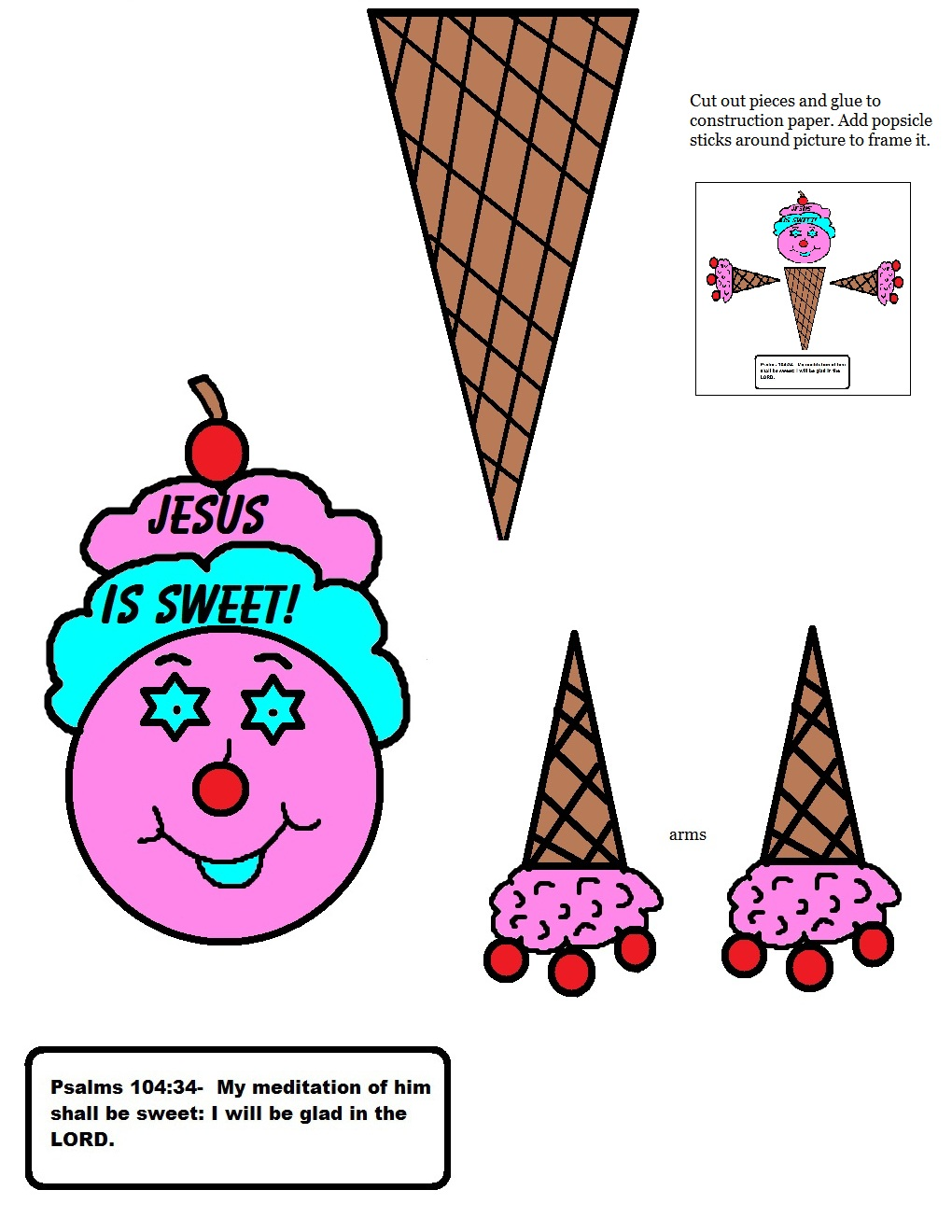 Ice Cream Cone Jesus Is Sweet Crafts