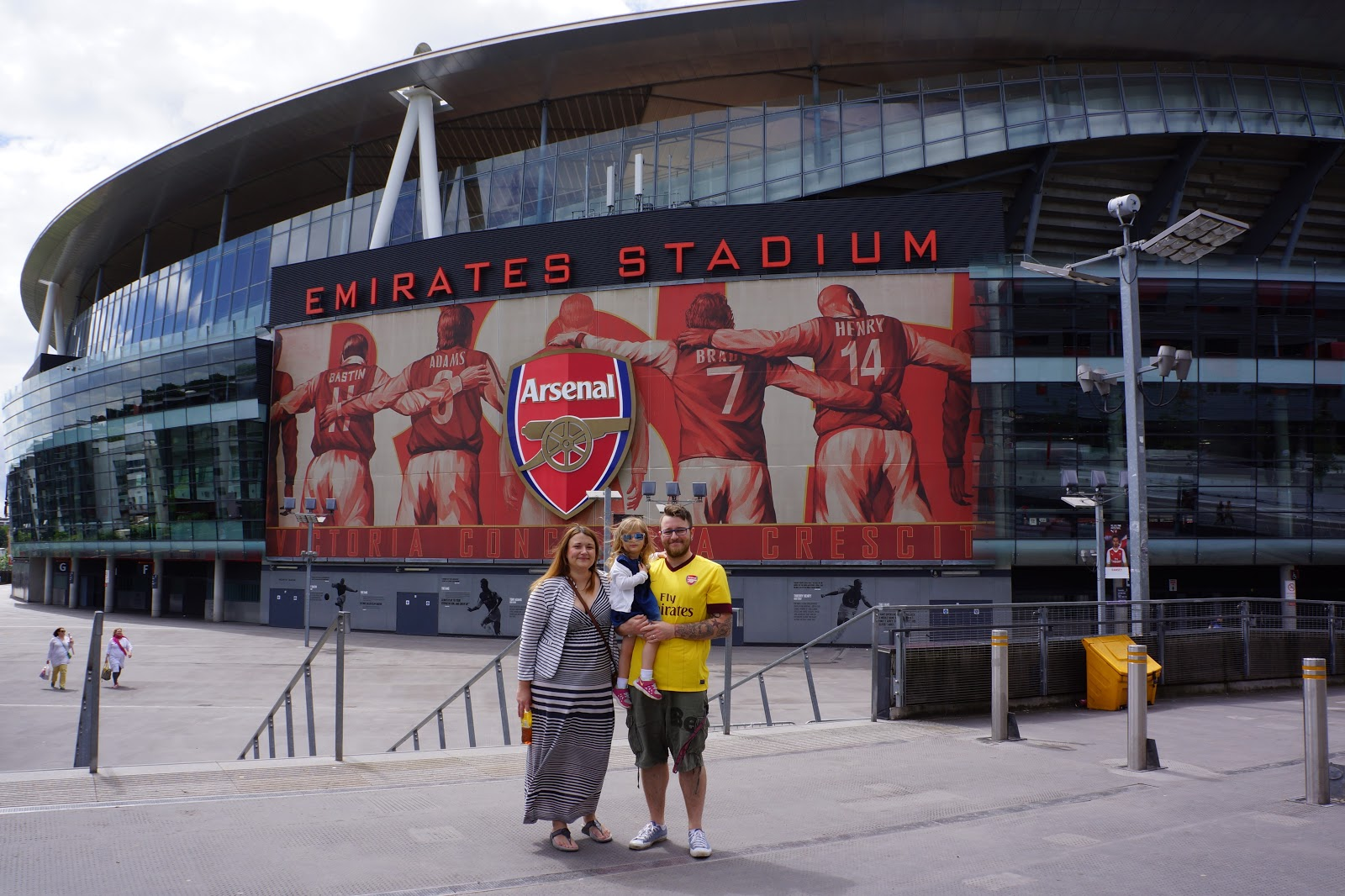 Family picture outside Arsenal Stadium