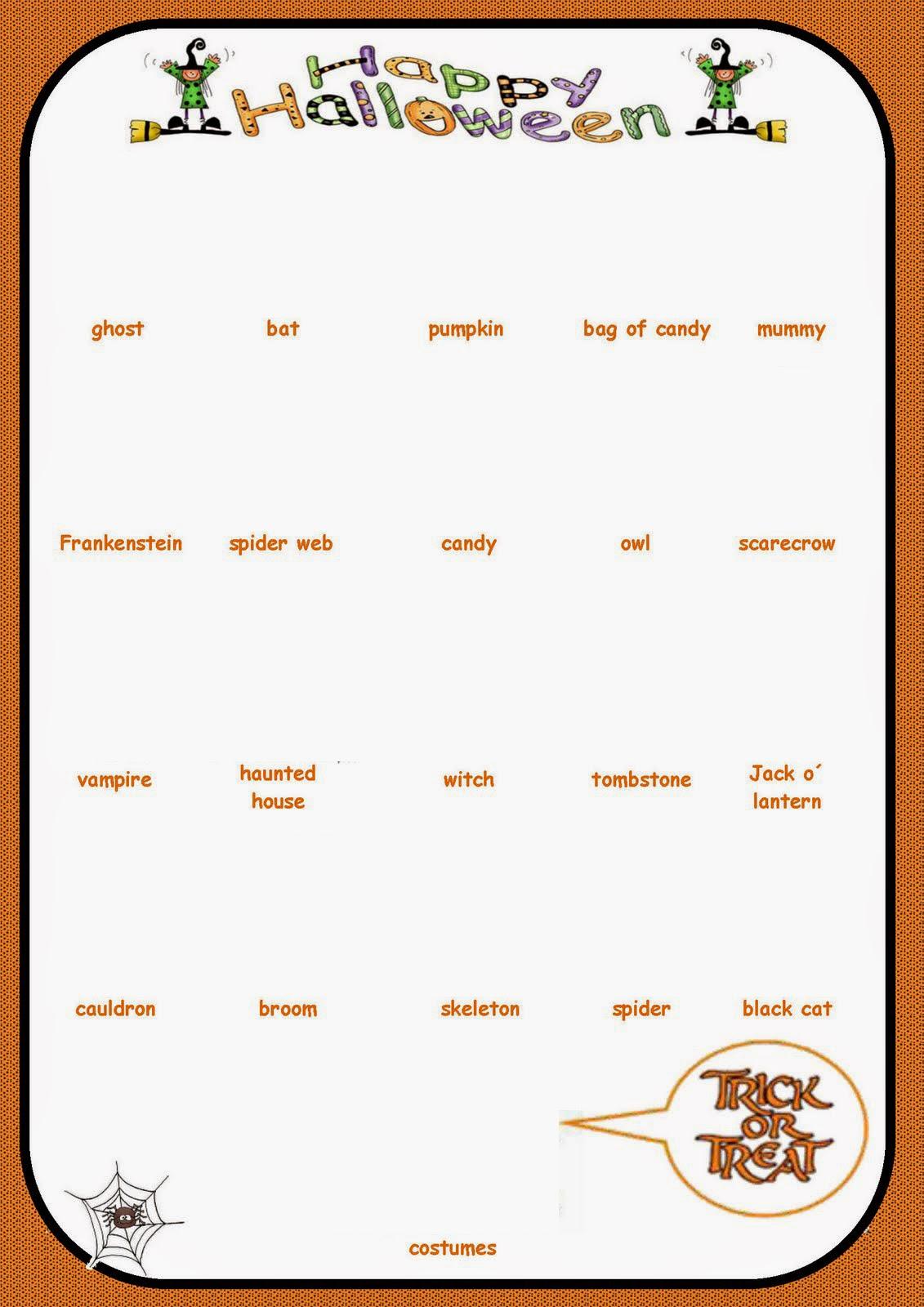 Educacion Plastica Y Visual Bilingue En Ingles Halloween