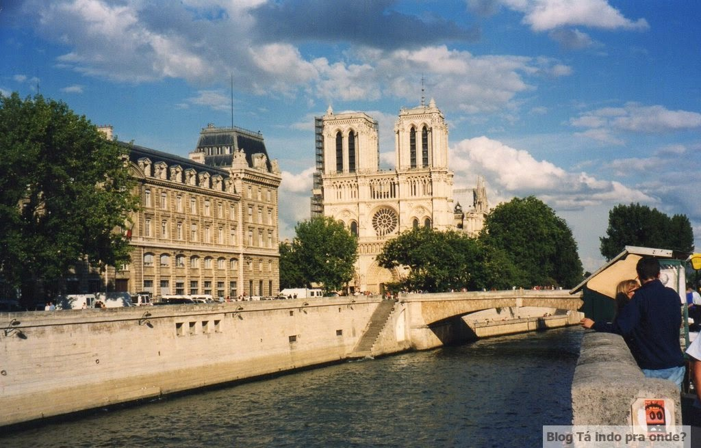 passeando por Paris - Rive Gauche - visão da Notre Dame