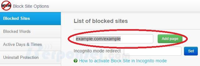 cara memblokir situs menggunakan extensi block site di google chrome