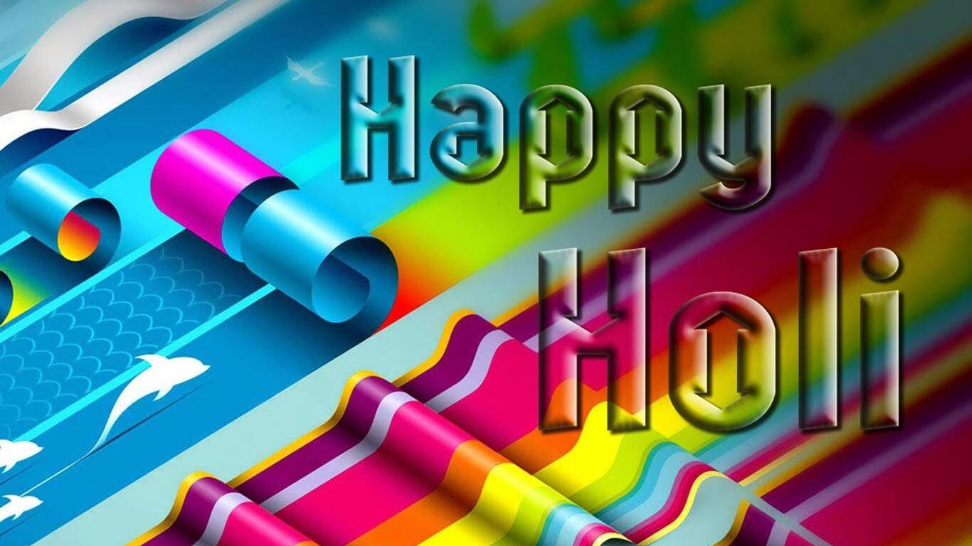 Download Happy Holi HD Wallpaper