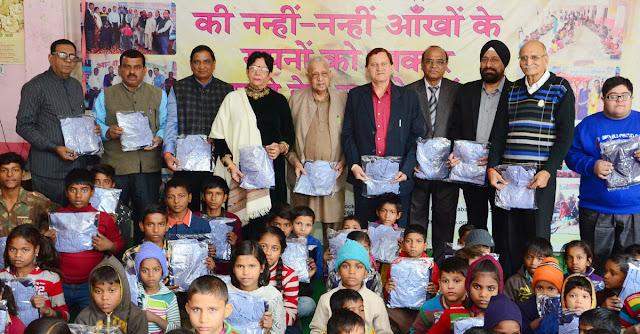 Divyang and street children share uniforms
