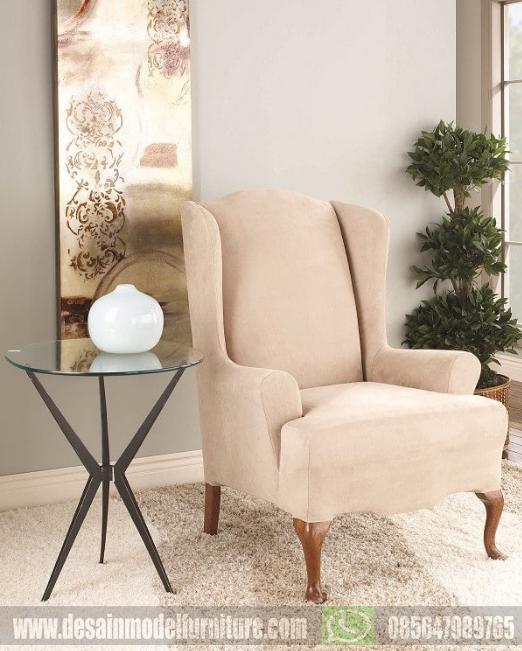 kursi sofa santai wing chair untuk ruang keluarga