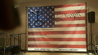 American Flag with ADAPT slogans