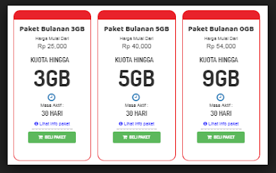 3+ Paket Internet Telkomsel 4G Murah