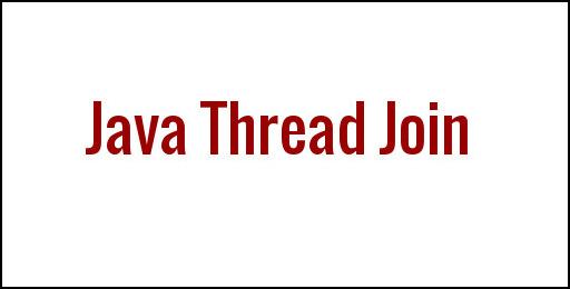 Java Thread Join