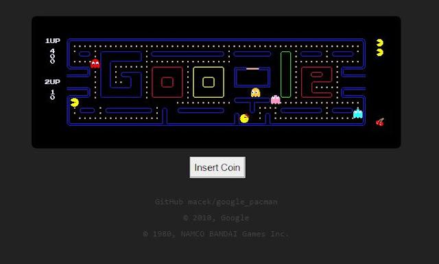 Pada saat itu Google lagi merayakan ulang tahun ke Serunya game Google Pac-Man gratis