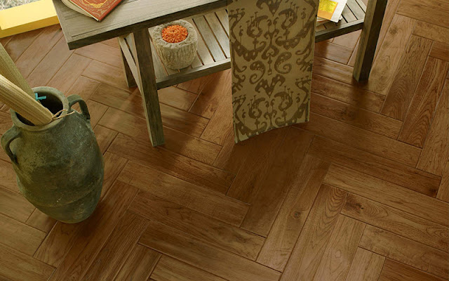 Hardwood tile laid in an interesting pattern makes the whole floor look different!