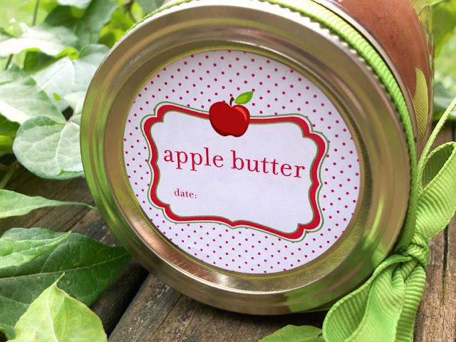 Cute Apple Butter Mason Jar Labels
