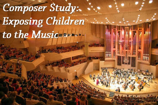 Exposing children to the music of the composers you're studying is important. Hearing, feeling, experiencing their works are one way we get to know the composers.