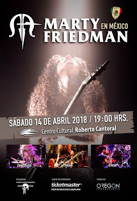 Marty Friedman World Tour 2018 México