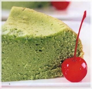Cara membuat cake santan hijau