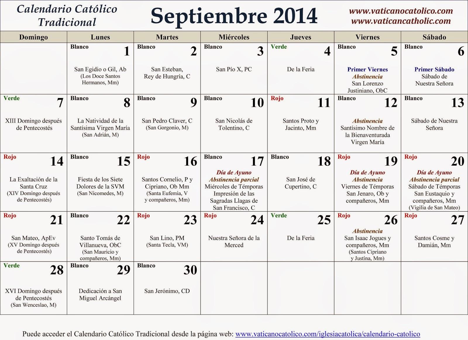 Calendario Santos.Calendario De Santos Catolicos