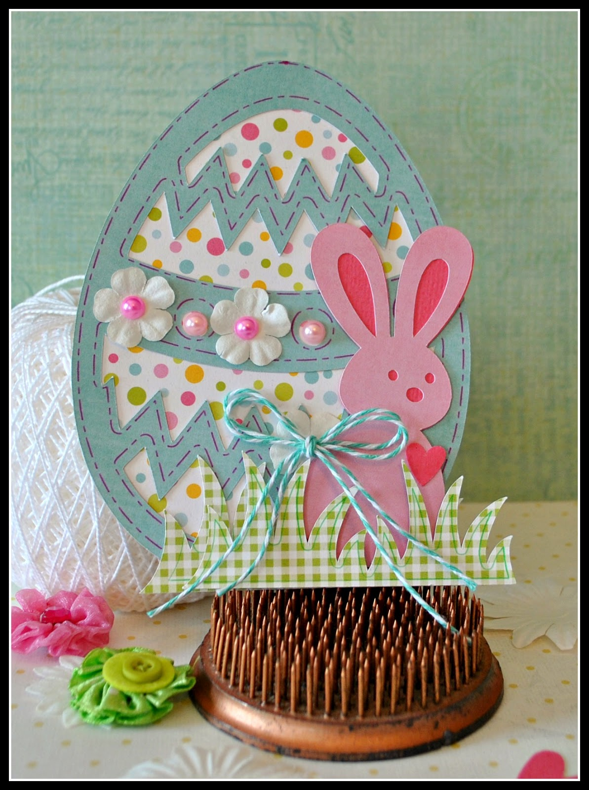 scrap playground  samantha walker easter card