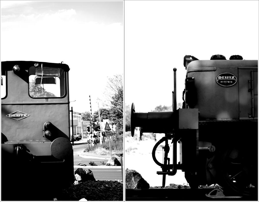 Blog + Fotografie by it's me! | fim.works | SchwarzWeissBlick No 14 | Deutz Lok Bj 1965 | Collage verschiedener Ansichten