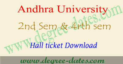 AU degree 2nd sem & 4rth semester hall tickets 2017 ug ba bcom bsc andhra university