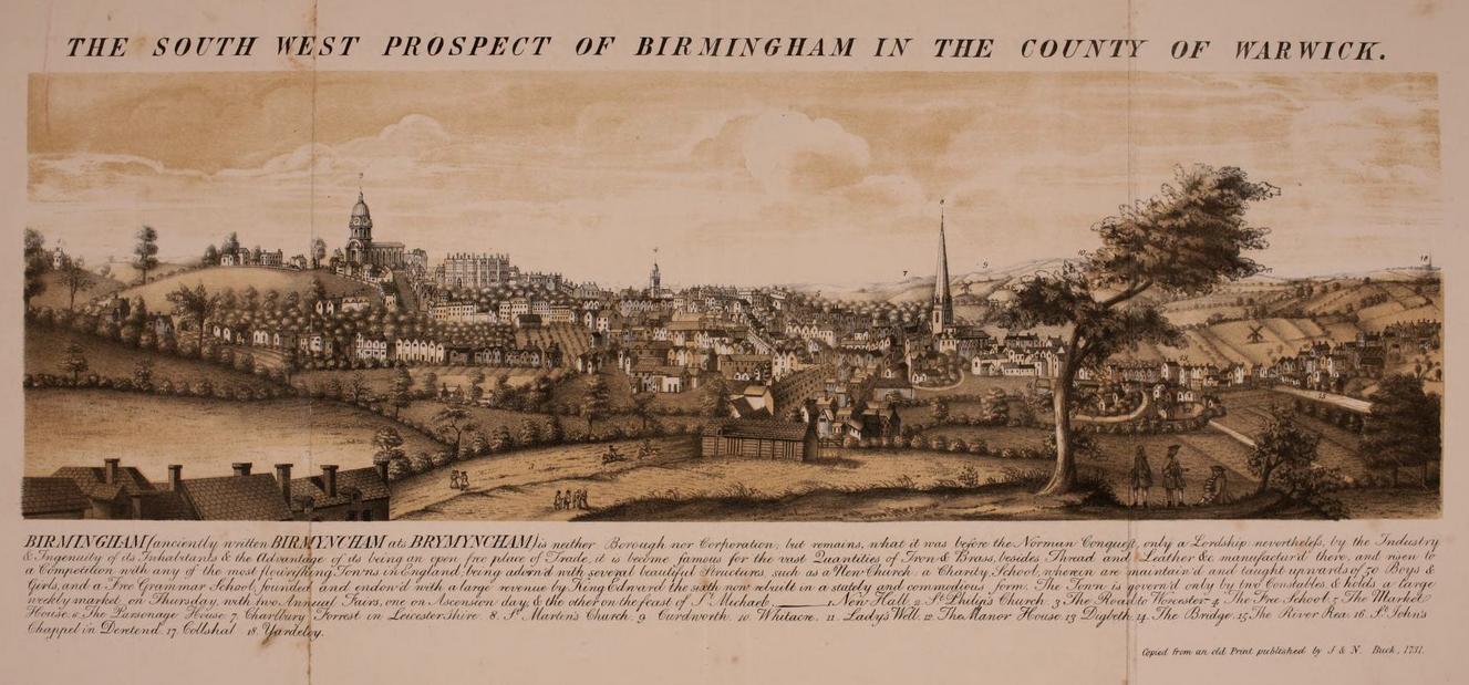South-West Prospect, 1731