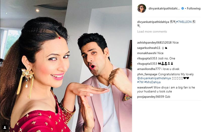 Divyanka Tripathi achieves seven million followers on Instagram
