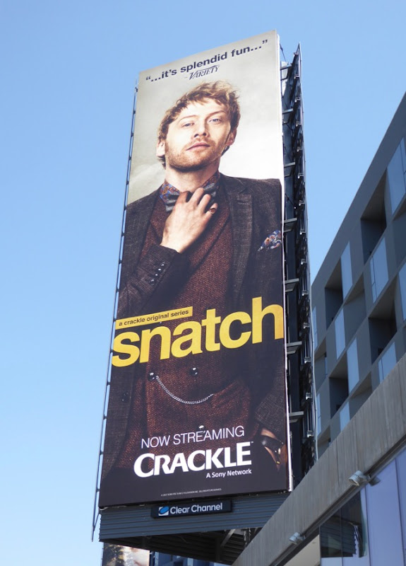 Rupert Grint Snatch series launch billboard