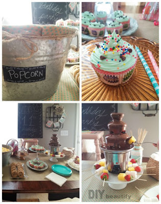 Birthday party decor and food ideas for a tweenager | DIY beautify
