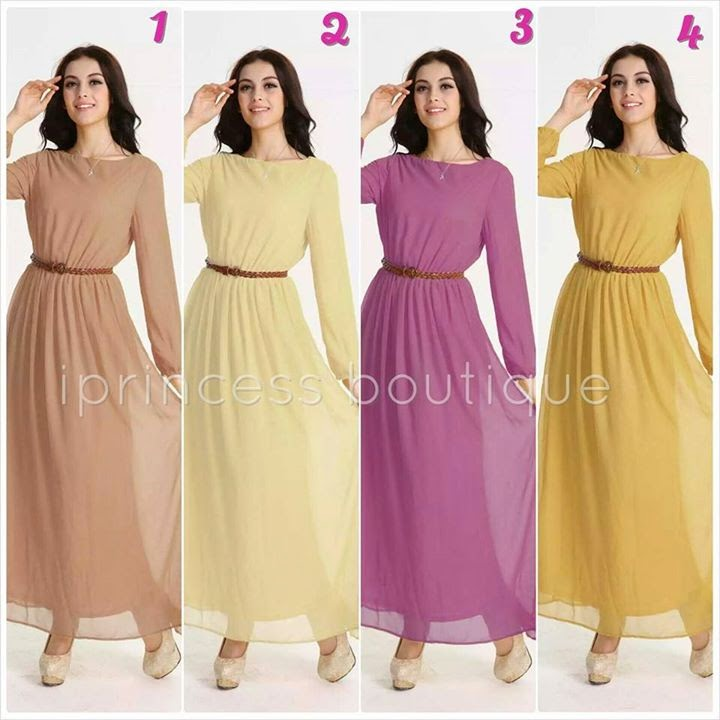 dress muslimah cantik murah 2014