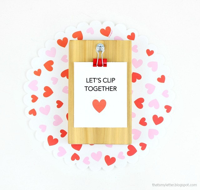 diy mini clipboard valentines