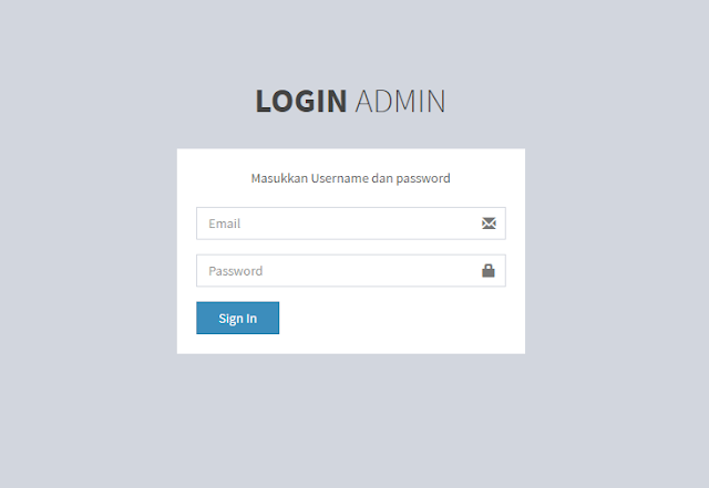 Membuat Login menggunakan Codeigniter dan MySQL