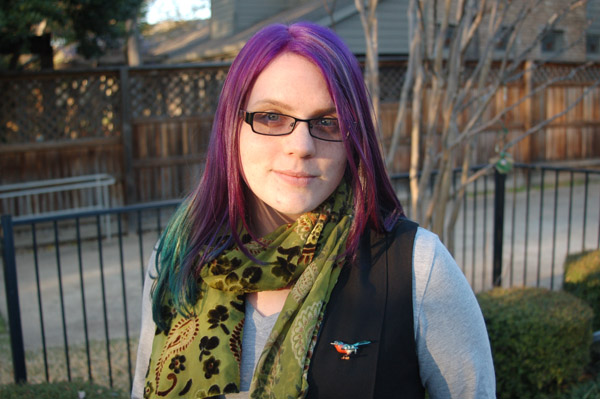 Secondhand Superhero: And then she dyed it purple!