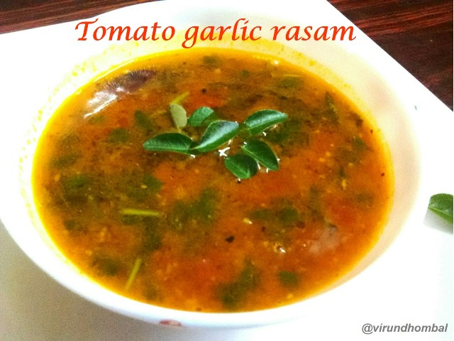 Tomato garlic rasam