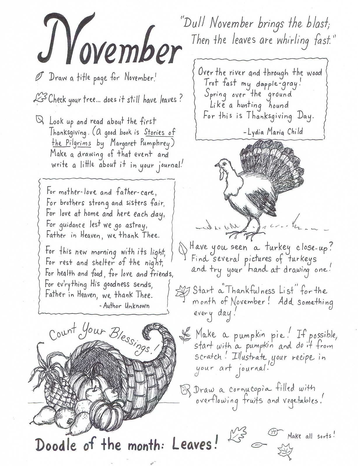 100 writing prompts for middle school thanksgiving
