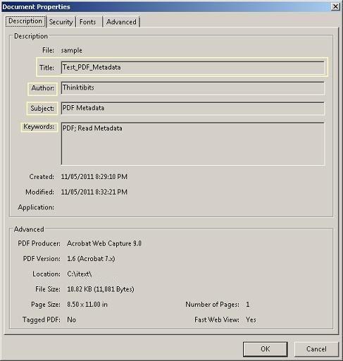 Java iText Read PDF Metadata Example Tutorial   ThinkTibits!