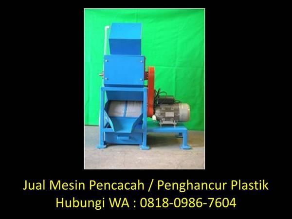 nama mesin penghancur plastik di bandung