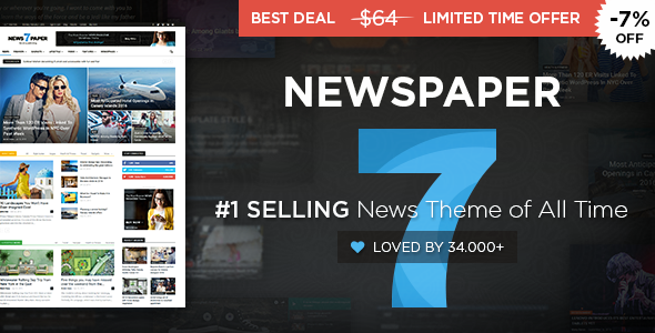 Newspaper - news WordPress Theme Free Download by ThemeForest.