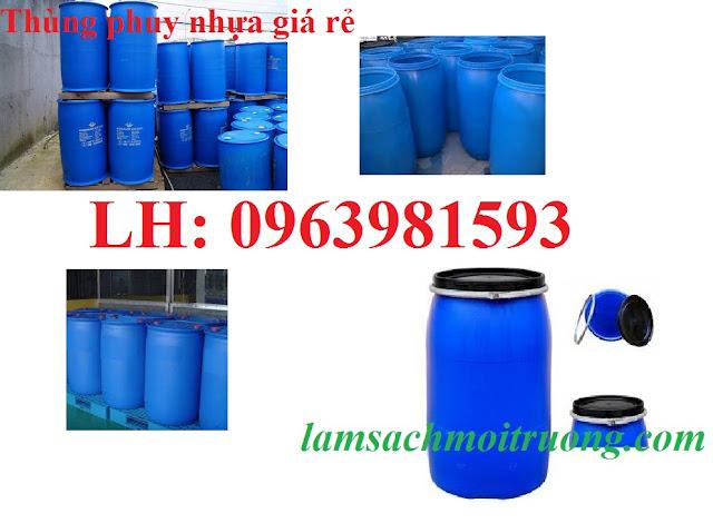 Thùng phuy nhựa, thùng phuy nhựa giá rẻ, thùng phuy đựng dầu
