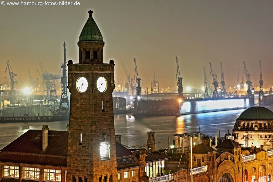 Hamburg bei Nacht Sehenswürdigkeiten, Landungsbrücken Hotspot Stintfang