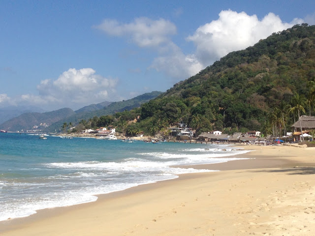beach and mountains near Puerto Vallarta Mexico