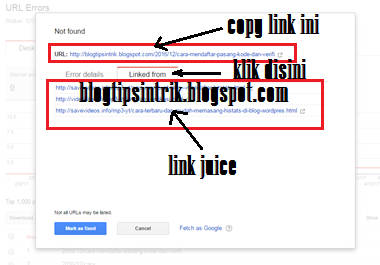 Link juice errors 404 blogtipsintrik
