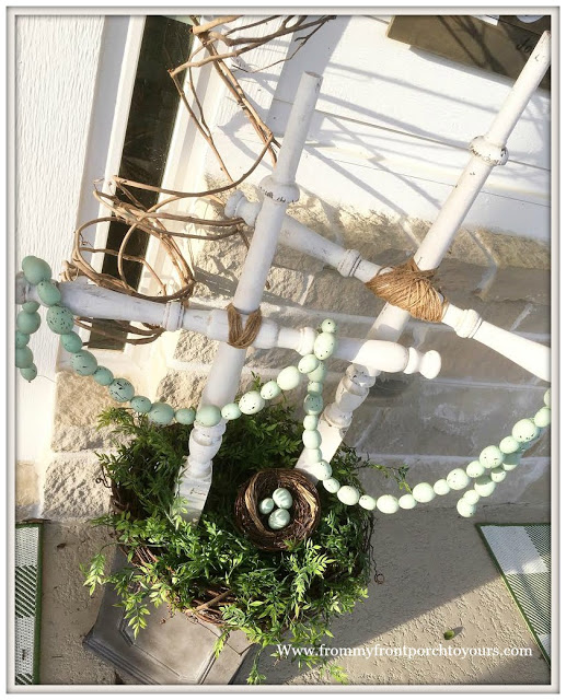 DIY-Cross-Spindle Cross-Porch Decor-Easter-From My Front Porch To Yours