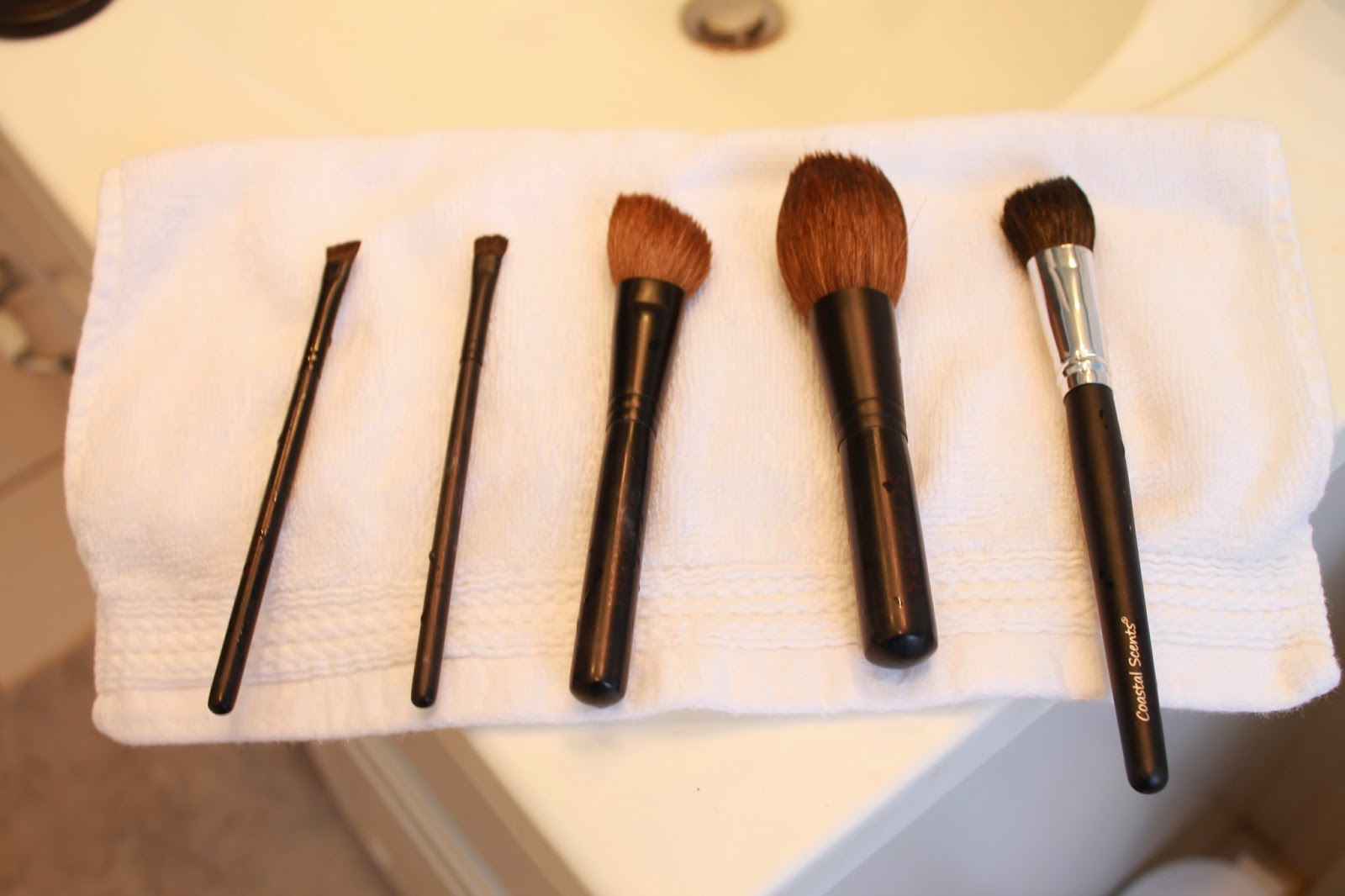 Cleaning Makeup Brushes | Feathers and Stripes