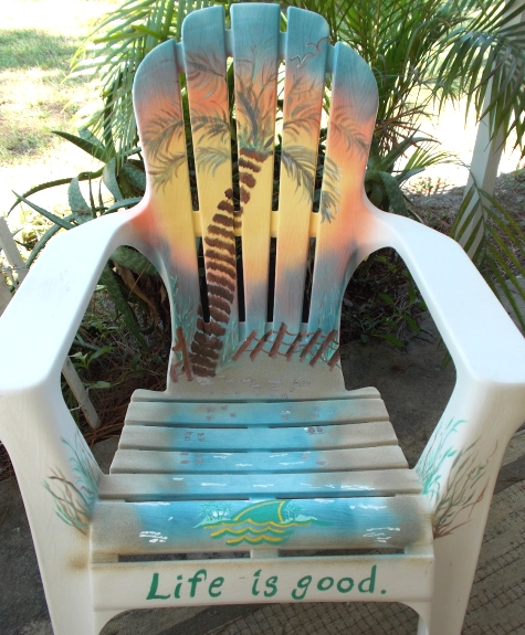 painted beach chair